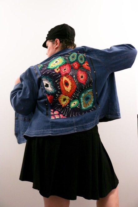"Peacock Feather Jacket (See more apparel on ""Custom Clothing"" tab)"